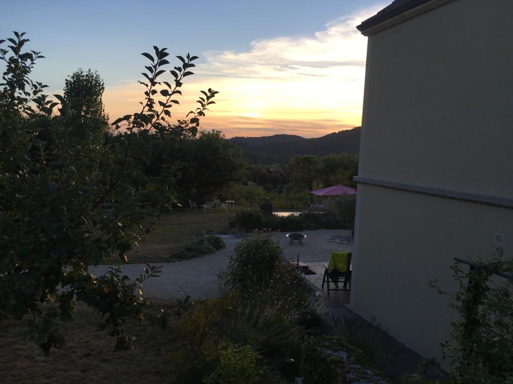 Ondergaande zon in de Dordogne